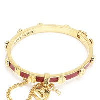 Heart Padlock And Screw Enamel Bangle Bracelet by Juicy Couture