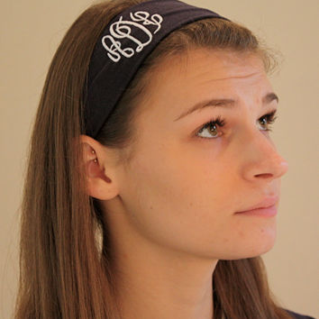 Monogrammed Headband (Pack of 3)