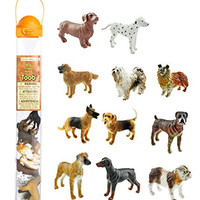 Safari Ltd Dogs TOOB With 11 Hand Painted Toy Figurines Including A Dachshund, Dalmatian, Retriever, Sheepdog, Collie, Shepherd, Beagle, Boxer, Great Dane, Doberman, And Bulldog - For Ages 3 And Up