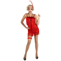 Forum Novelties Womens Flirty Flapper Halloween Party Dress Costume
