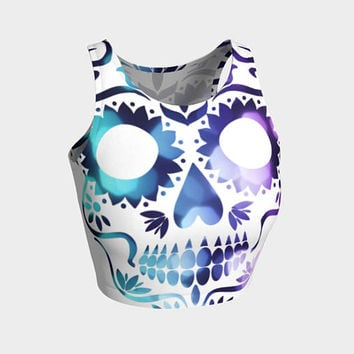 Sugar Skulls - Womens Active Wear - Athletic Wear - Rave Wear- Sugar Skulls Clubbing - Summer Clubbing - Sugar Skulls Clothing - Mardis Gras