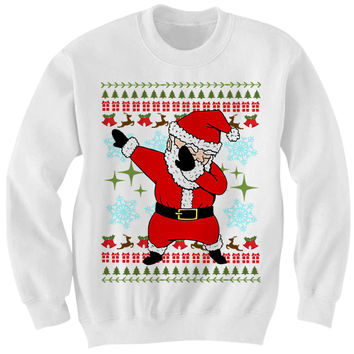 ugly christmas sweater dab santa sweater funny christmas sweaters cheap gifts cheap sw - Cheap Mens Ugly Christmas Sweater