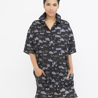FISH OUT OF WATER SHIRT DRESS