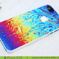 iPhone 5 case iPhone 5S case iPhone 5 Cover iPhone 5S Cover iPhone 5/5S cover rubber iPhone 5 plastic Colorful Abstract