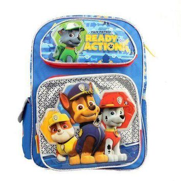 "Paw Patrol Ready For Action 16"" Large School Backpack"
