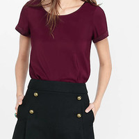 Silky Crew Neck Tee from EXPRESS