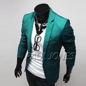 Mens Designer Slim Fit Casual & Dress Blazer Slim Fit Jacket Suit Coat Outerwear