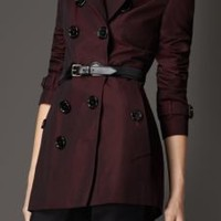 Equestrian Detail Cotton Gabardine Trench Coat