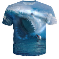 Wavy Shark Blue surfer