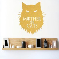Game of Thrones Mother of Cats Khaleesi Wall Sticker home decor Decals DIY Cartoon Car stickers or Laptop Decal Animal Pattern