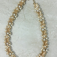 Vintage Trifari Faux Pearl Necklace