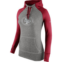 San Francisco 49ers Nike Women's Platinum All Time Performance Hoodie - Charcoal