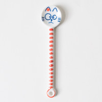 Cat Spoon Striped Poppy