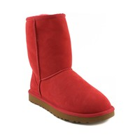 Womens UGG® Classic Short Boot , Bright Red  Journeys Shoes