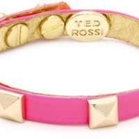 "Ted Rossi ""Extreme Neon"" Neon Patent Pyramid Mini Cuff Bracelet"