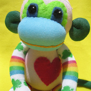 Sock Monkey Plush D.I.Y. Kit No. 903 - No Sewing Machine Needed