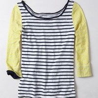 Duostripe Tee by Saturday/Sunday Black Motif Xs Tops