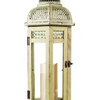 Amazing Flameless Candle All-Weather Wooden Lantern   Nordstrom