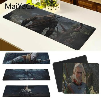 MaiYaCa Large Mousepad the witcher Anime Mouse Mat Large Thicken Comfy Waterproof Gaming Rubber Mouse Pad