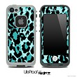 Vector Hot Turquoise Cheetah Print Skin for the iPhone 5 or 4/4s LifeProof Case