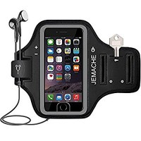 iPhone 7 / 7 Plus / 8 Armband, JEMACHE Fingerprint Touch Supported Gym Running Workout/Exercise Arm Band Case for iPhone 6 6S 7 8, iPhone 8+ 7+ with Key/Card Holder