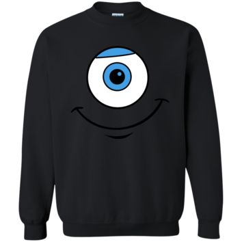 Disney Monsters Inc. Mike Eye Smile Graphic T-Shirt G180 Gildan Crewneck Pullover Sweatshirt  8 oz.