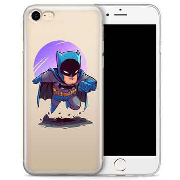 Batman (animated) Jelly Clear Case for Apple iPhone 7 PLUS