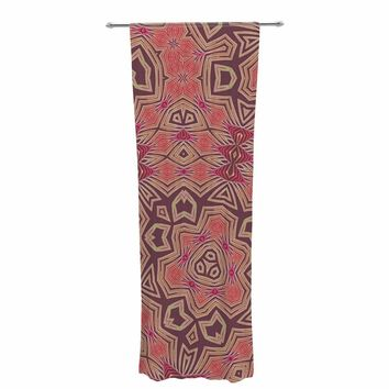 "Alison Coxon ""Tribal Fire"" Tan Red Digital Decorative Sheer Curtain"