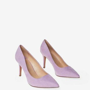 Wide Fit Lilac Microfibre 'Electra' Court Shoes | Dorothyperkins