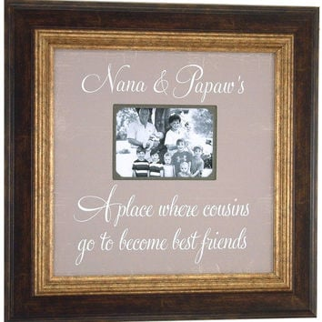 Grandparents Picture Frame, Mimi, Papa, Grandma, Grandpa, Grandmother, Grandfather, Nana, Cousins, Best Friends, Christmas Gift, 16 X 16