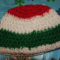 Holiday Special Newborn Crocheted Holiday Stripes Beanie for Christmas Ready to Ship