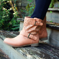 Last Stand Pink Cutout Ankle Boot
