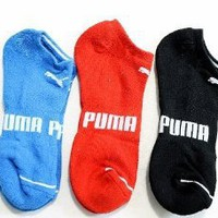 Puma Runner Sorbtek Leg Wear Men`s 3-Pairs Multi Color Socks ST#P78236