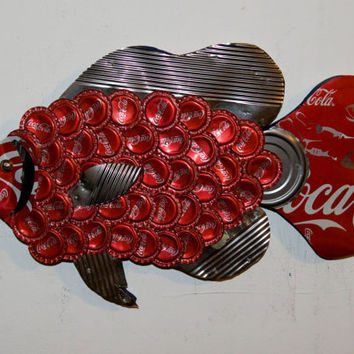 Coca Cola Bottle Cap Fish Sculpture no.166 Bluegill