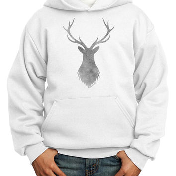 Majestic Stag Distressed Youth Hoodie Pullover Sweatshirt