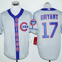 MLB Chicago Cubs #17 Kris Bryant Grey Cooperstown Gray Stitched Jerseys MLB Baseball Jersey