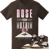 Jordan 1 Travis Scott Sneaker Tees Shirt - ROSE FROM NOTHING