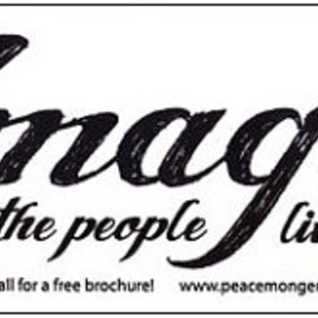 Imagine all the People Living Life in Peace Bumper Sticker or Magnet - S463
