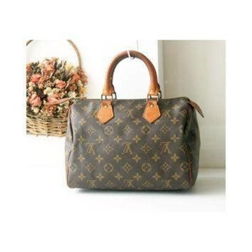 ICIKHI2 Louis Vuitton Monogram Speedy 25 handbag authentic vintage bag 80s