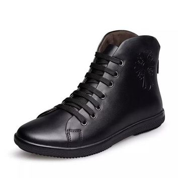 2018 Men's Genuine Leather Vintage Sneaker Boots