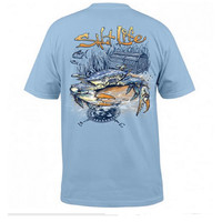 Salt Life Men's Short Sleeve Blue Crab T-Shirt