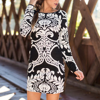 One Fine Day Dress, Black-White
