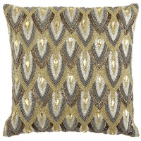 Calico Metallic Beaded Scale Pillow