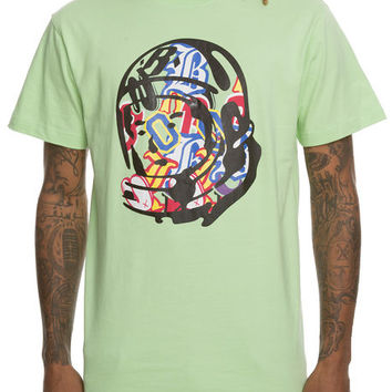 The Random Helmet Short Sleeve Tee in Pistachio Green