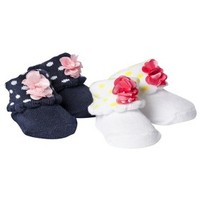 Just One You™Made by Carter's® Newborn Girls' 2 Pack Booties Keepsake Set - White/Blue