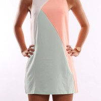 Crazy In Love Dress Peach Mint - Womens