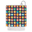 """Daisy Beatrice """"Smiley Faces Repeat"""" Animal Pattern Shower Curtain"""