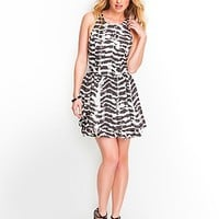 Abstract Dye Sleeveless Tiered Dress at Guess