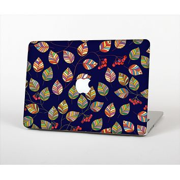 The Multicolored Leaves Pattern v32 Skin Set for the Apple MacBook Pro 13""