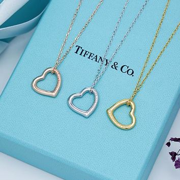 Tiffany trend fashion heart necklace 925 sterling silver high quality